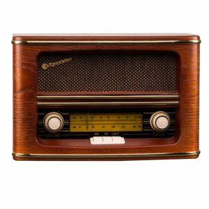 radio antigua de madera